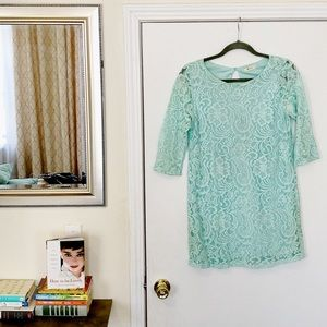 Spring Tiffany Blue Lace Nordstrom Everly Dress 👗